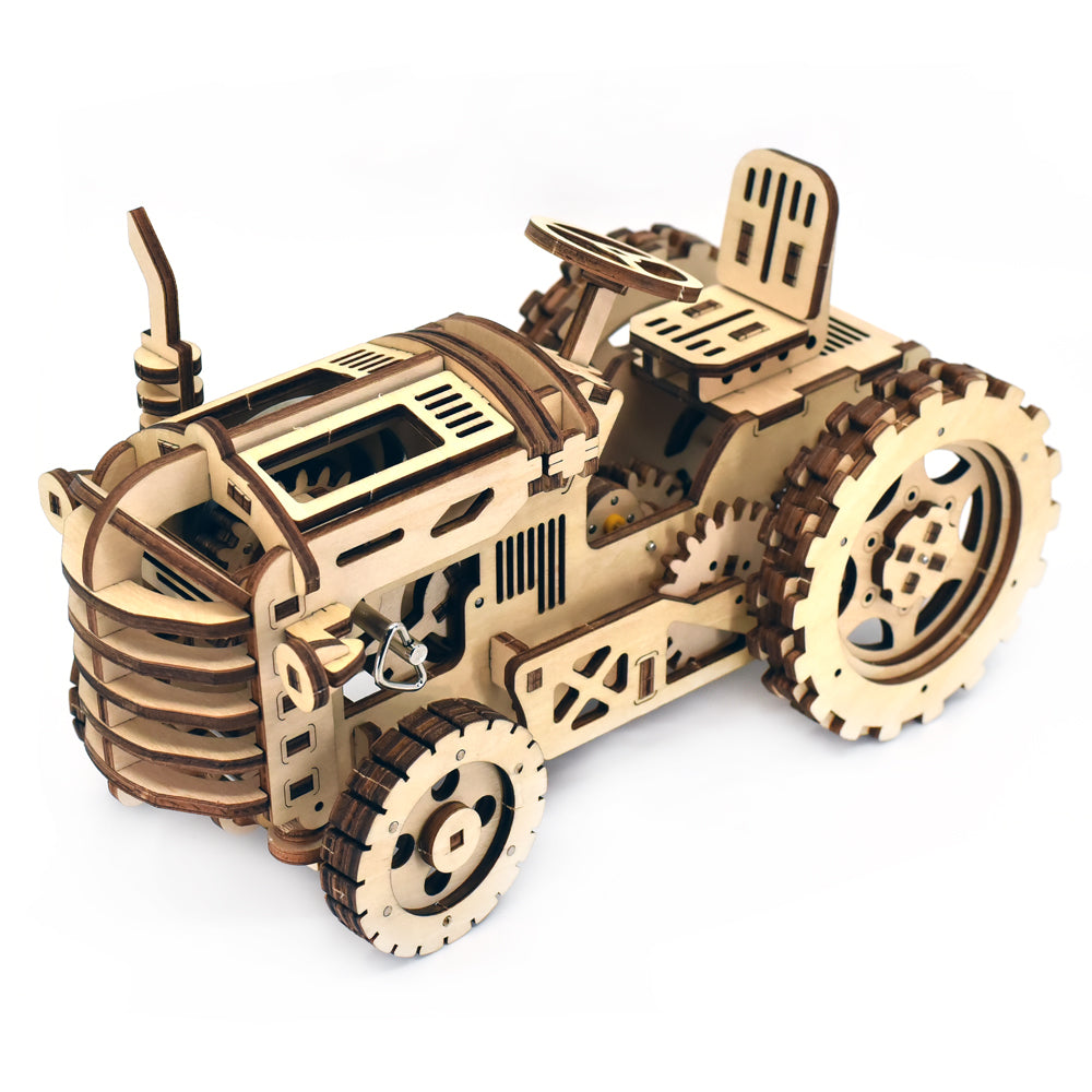 Tractor building model kit fully assembled