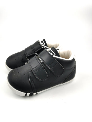 Black Takkie with double strap - Stage 1