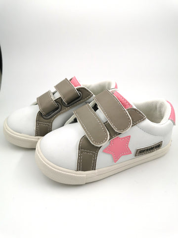 White Sneakers with Pink Star - Stage 2