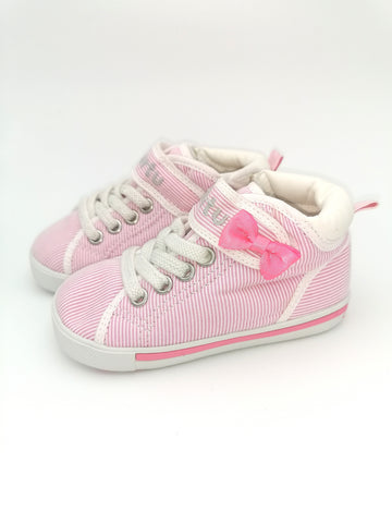 Pink & White Stripe High-Tops - Stage 2