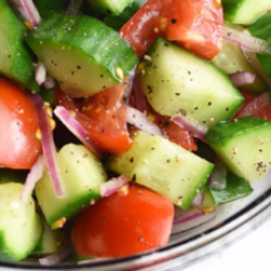 SIDE - CUCUMBER + TOMATO SALAD