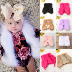 Girl Baby Girl Faux Fur Fashion Vest