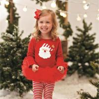 Girl Baby Girl Xmas Lace Ruffle Set