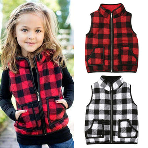 Kid Baby Girl Plaid Jacket