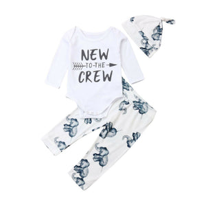 Baby Girl Boy Romper Jumpsuit Set Elephant On Feet