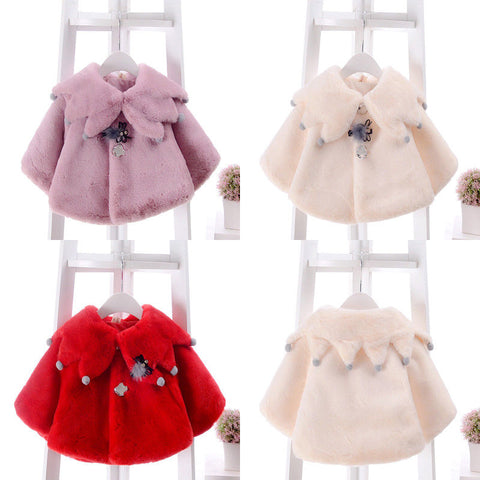 Girl Baby Girl Fleece Winter Thick Coat