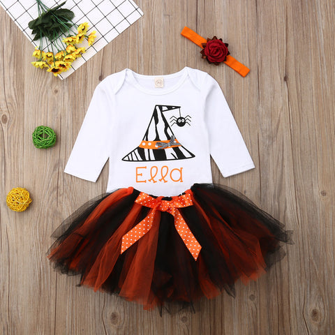 Baby Girl Halloween Bow Tutu Dress