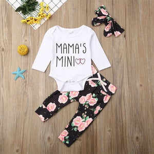 Baby Girl Mama Mini Floral Set