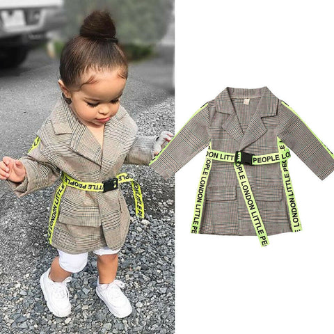 Baby Girl Fall Windbreaker Coat