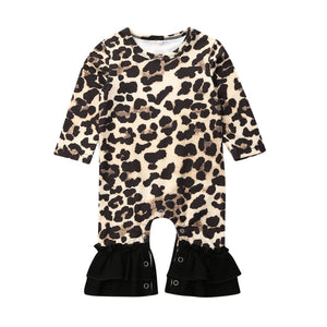 Baby Girl Leopard Long Sleeve Jumpsuit