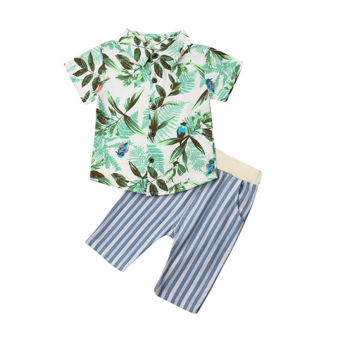 Boy Baby Boy Floral Shirt Short Pants