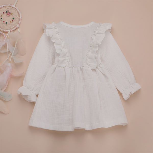 Girl Baby Girl Cotton Linen Party Dress