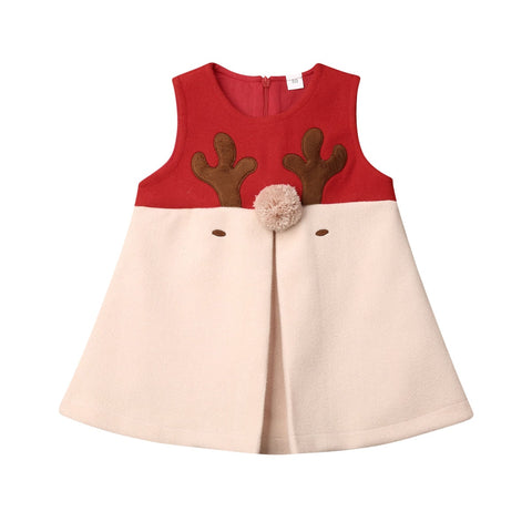 Girl Baby Girl Hairy Christmas Vest