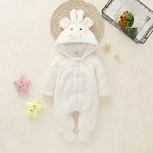 Baby Boy Girl Cute White Down Jumpsuit