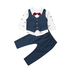 Boy Baby Boy Smart Gentleman Suit Set