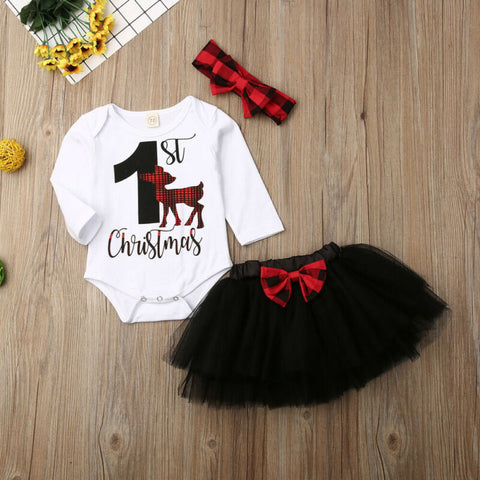 Baby Girl 1st Xmas Tulle Dress