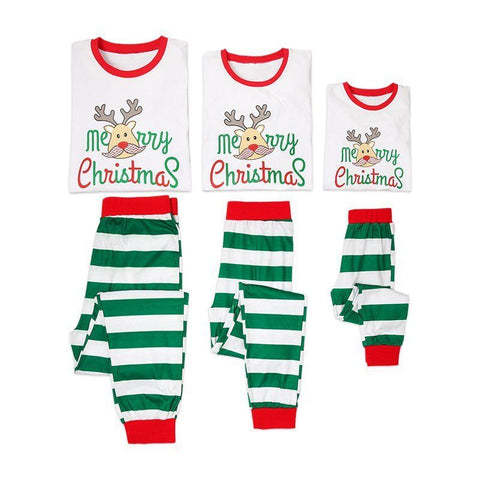 Merry Christmas Reindeer Family Matching Pajamas Set