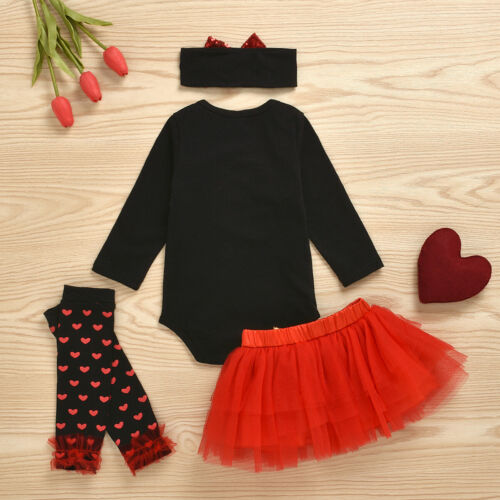 Baby Girl Valentine  Tutu Skirt Set