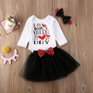 Baby Girl Valentine's Day Letter Dress Set