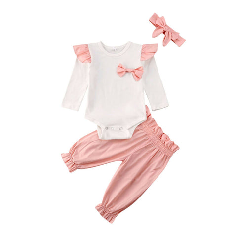 Baby Girl Fly-Sleeve Casual  Set