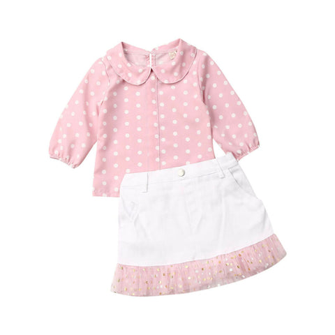 Girl Baby Girl Sweet Polka Dot Top Tutu Skirt