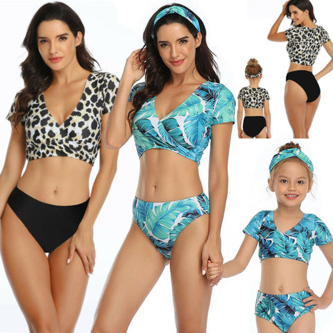 Girl Mommy And Mini Swimsuit Family Matching Set