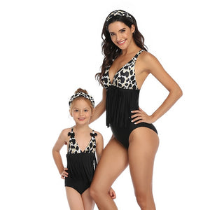 Girl Mommy And Mini Tassel Swimsuit Family Matching Set