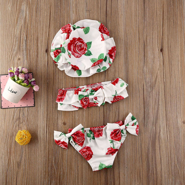 Girl Baby Girl Bikini Swimwear Set