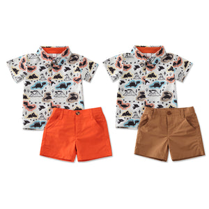 Summer Dinosaur Short Sleeve Set