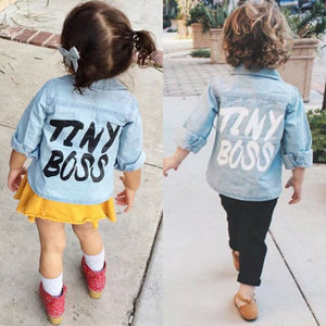 TINY BOSS Long Sleeve Denim Clothes