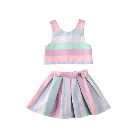 Rainbow Vest Striped Party Set