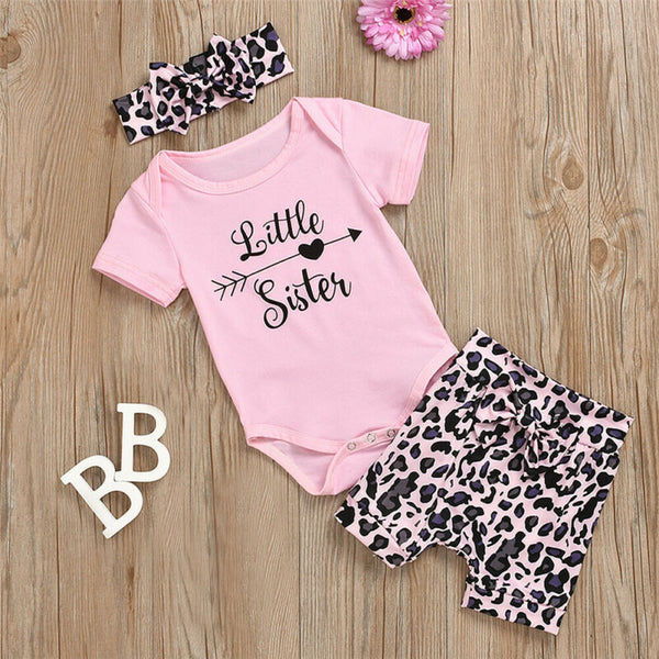 Pinky Big Sister And Little Sister Leopard Matching Set