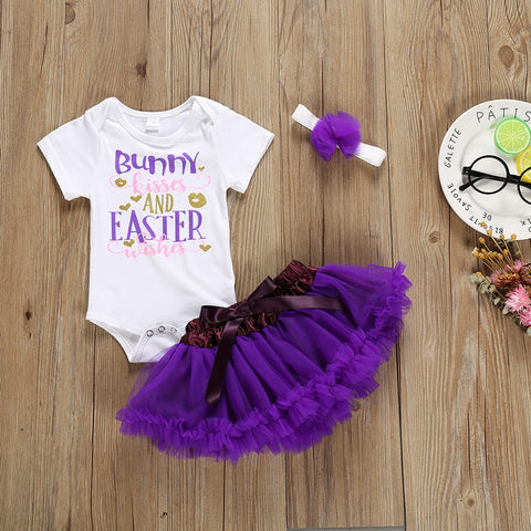My 1st Easter Bunny Romper Tutu Skirt Set