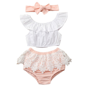 Pinky Newborn Lace Set