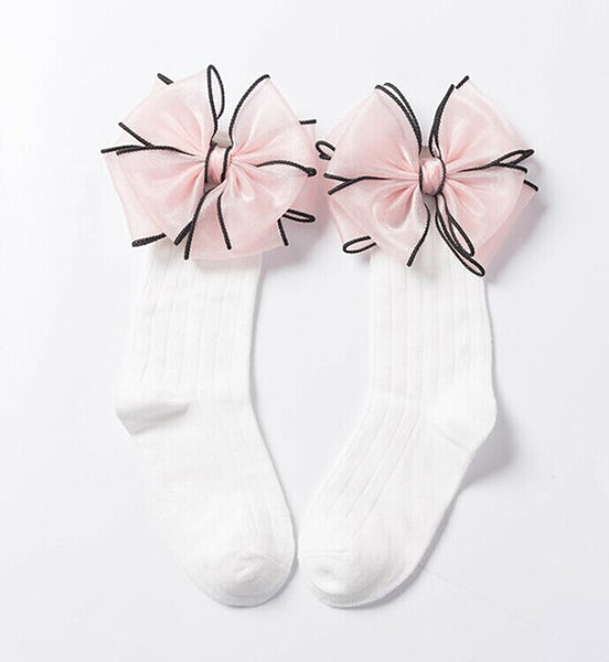 Cute Long Tube Bows Princess Socks