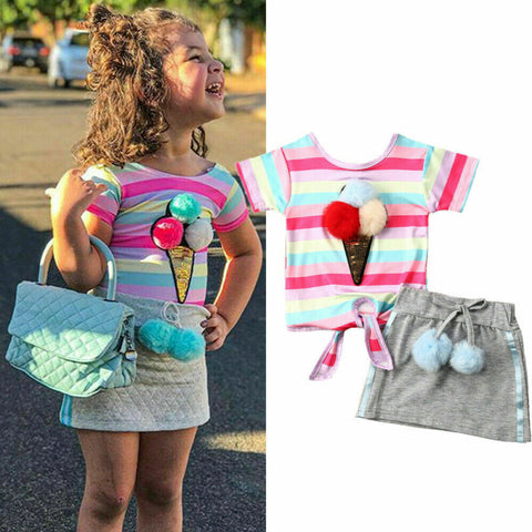 3D Ice-cream Flamingo Cute Fashion Set