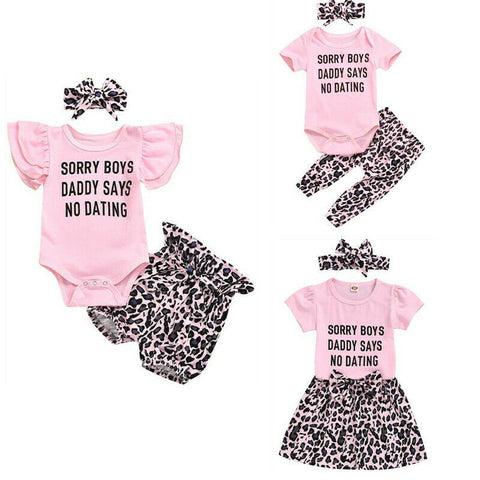Pink Leopard Sister Matching Set