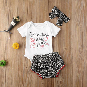 Lovely Mini Granddaughter Romper Set