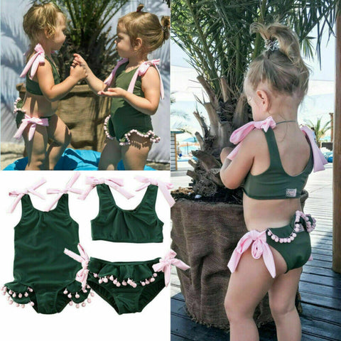 Seaweed Swimwear Matching Set