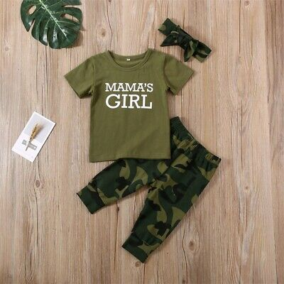 Cool Camouflage For Boys And Girls Matching Set