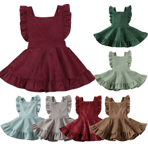 Ruffle Solid Princess Dress