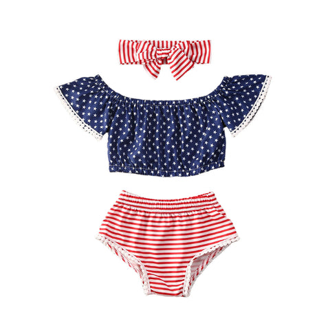 Baby Girl Independence Day Set