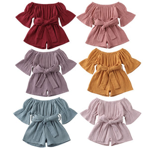 Ruffle Sleeve Off Shoulder Piece