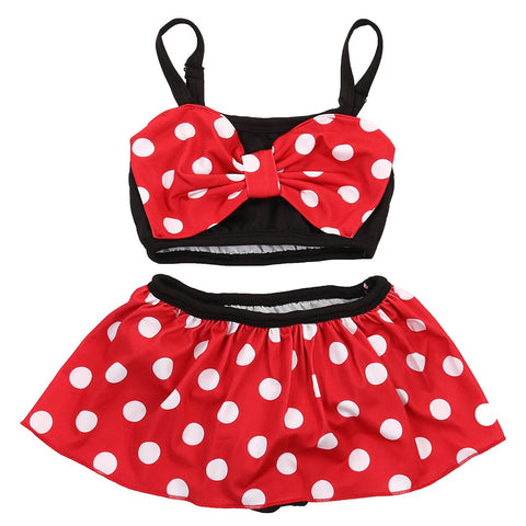 Girl Baby Girl Swimwear White Dots