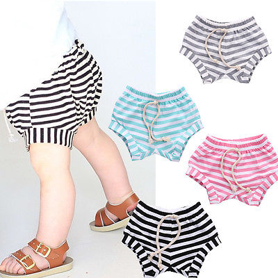 Kids Baby Boy Girl Shorts Stripped Emotions