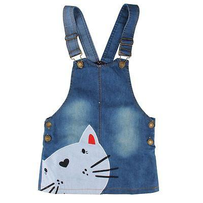 Girl Denim Dress Cat Mayyy