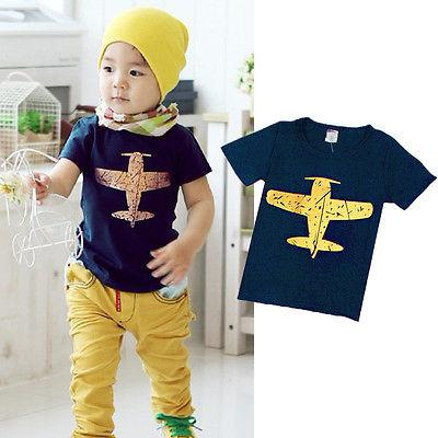 Boy Baby Boy T-shirt Yellow Airplane