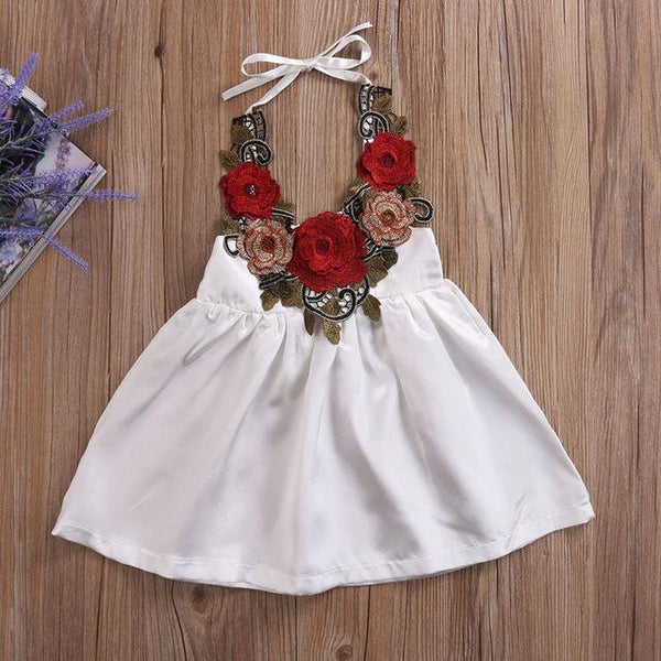 Girl Baby Girl Dress Party Flowers