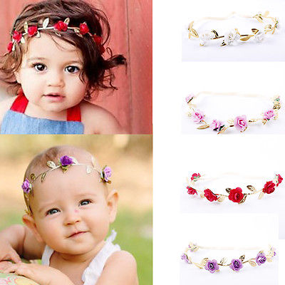 Baby Girl Rose Headband Accessory