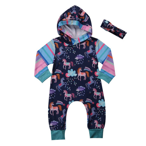 Kids Baby Girl Boy Jumpsuit Unicorn and ME
